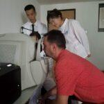 Ovidiu Simion took eyes check in the hospital.